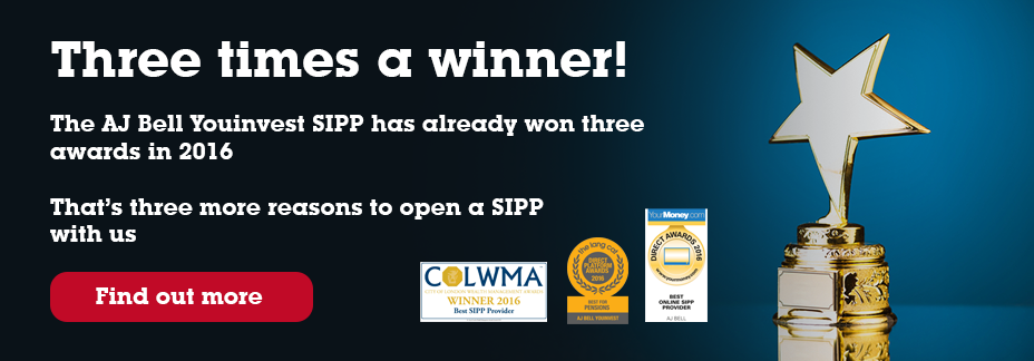 AJ Bell Youinvest is voted 'Best Online SIPP Provider 2016', 'Best SIPP Provider 2016' and 'Best for Pensions 2016'