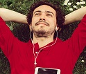 Person relaxing listening to music